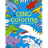 Dino coloring: kleurboek - livre de colloriage