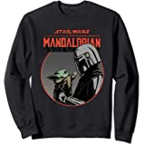 Star Wars The Mandalorian Mando and the Child Retro Felpa