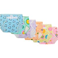 SuperBaby Babies Printed Cotton Reusable Diaper (3-6 Months,Pack of 6,Multicolor)