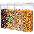 Lufttät matförvaringsbehållare med lock tillverkad av hållbart BPA-fritt material idealiskt för spannmål, spagetti, pasta, go