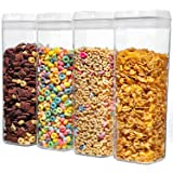 Airtight Food Storage Container with Lids Made by Durable BPA-Free Material Ideal for Cereal, Spaghetti, Pasta, Candy, Snacks