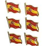 HCZ Insignias de Pin de Bandera de España.6 Unidades