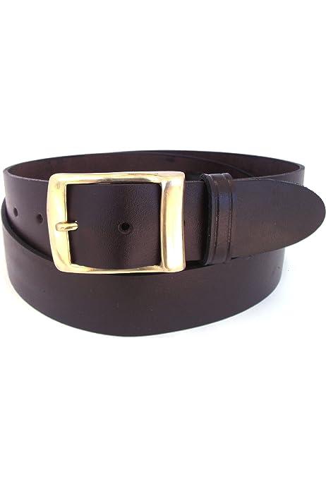 Black Leather Belt for Men and Women. Handmade from 100