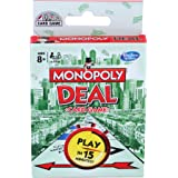 MONOPOLY Deal Card Game for Families and Kids Ages 8 and Up, Fast Gameplay with Cards