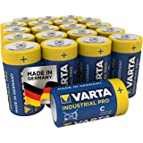 Varta Industrial Batterij C Baby Alkaline Batterijen LR14 - Verpakking met 20 stuks, Blauw