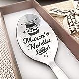 Nutella löffel Kaffeelöffel mit Gravur - Namenslöffel - nach Wunsch Überraschung - Gestaltung Edelstahl - Geschenk…