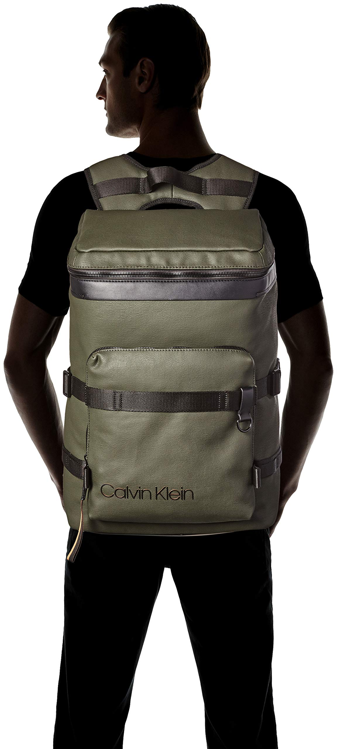 Calvin Klein Jeans – City Active Fashion Backpack, Mochilas Hombre, Gris (Grey/Rusted Brick), 17x52x32 cm (B x H T)