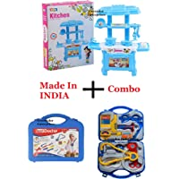 TRUVENDOR ENTERPRISES Kitchen Set Toy for Kids Playing (32 Pieces, Kitchen Set for 3+ Kids High Quality) (Multocolour…