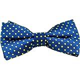 Royal Blue & Yellow Polka Dot Men's Bow Tie