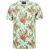 Tokyo Laundry Men's Tropical Print Crew Neck T-Shirt