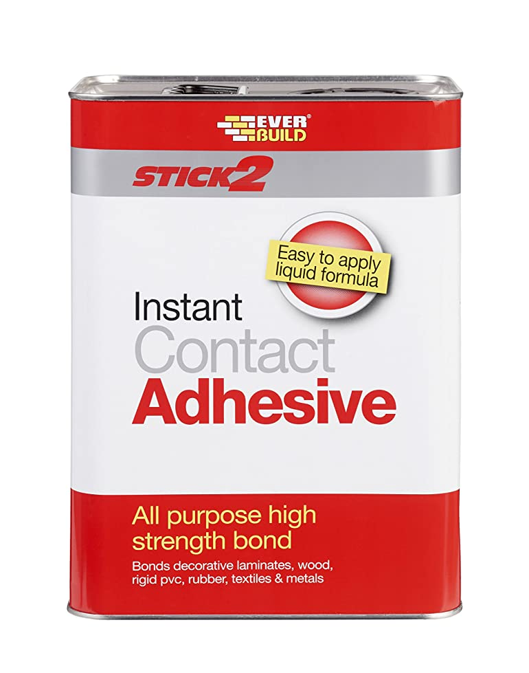 everbuild cona stick instant contact adhesive l amazon co uk everbuild cona5 stick 2 instant contact adhesive 5l amazon co uk diy tools