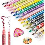 RATEL Peinture Acryliques Stylos, 35 Pcs Marqueur Peinture Acrylique Premium Permanent Feutre Acrylique Stylo Peinture Acryli