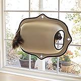 K&H Pet | Rifugio da Finestra Ez Easy Window Mount Bed | Cuccia per Gatto da Finestra| Colore Marrone Chiaro