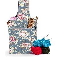 Teamoy Sac à tricoter de sac à main dans des sacs de tissage de main pour des aiguilles Crochet sac à dos (Pivoine)