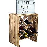 Kistenkolli Altes Land Étagère à vin Blanc/naturel 50 x 40 x 27 cm Caisse pour pommes Rangement de bouteilles Rangement pour