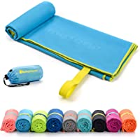 meteor Microfibre Towel Quick Dry Gym Pool Fitness Swimming Travel Camping Beach Yoga Pilates Bath Shower Absorbent…