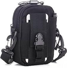 LUZWAY Taktische Hüfttaschen Molle Tasche Gürteltasche 1000D, Hüfttasche Beintasche Multifunktionstasche mit Aluminium Karabiner, für Outdoor Wandern Camping Radfahren Angeln Täglicher Gebrauch