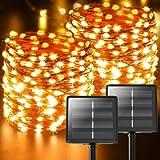 Luci Solari Esterno, 【2 Pacchi】 44m 440 LED In totale (Perlina Della Lampada Oversize) Catena Luminosa Esterno Solare…