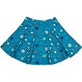 Piccalilly Falda de Patinador para niñas, Suave y orgánico, Color Azul