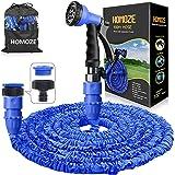 HOMOZE Hose Pipes Expandable 100ft Expanding Garden Hose with 8 Function Spray Gun Flexible Expanding Water Hose Free Garden