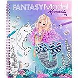 TOPModel Fantasy Model Colouring Book With Reversible Sequins Mermaid
