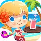 Vacaciones en el hotel de Candy de la playa