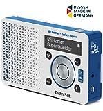TechniSat Digitradio 1 BR Heimat-Edition portables DAB+ Radio (klein, tragbar, mit Lautsprecher, DAB+, UKW, Favoritenspeicher, Direktwahltaste zu BR Heimat) weiß/blau