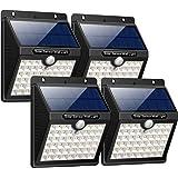 【3 Modes Intelligents】Lampe Solaire Extérieur, iPosible 4 Pack 46 LED Lumière Solaire étanche éclairage Solaire avec Détecteur de Mouvement Lampe de Sécurité sans Fil lampe mural pour Jardin,Maison
