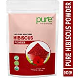 Pure Herbology Pure & Natural Hibiscus Flower Powder for Face Packs and Hair Growth & Care, 100gm
