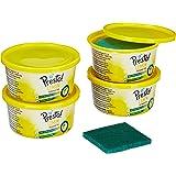 Amazon Brand - Presto! Dishwash Tub Bar with Free Scrub Pad - 700 g (Pack of 4)