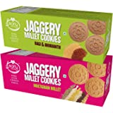 Early Foods - Assorted Pack of 2 - Multigrain Millet & Ragi Amaranth Jaggery Cookies X 2