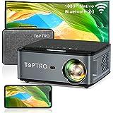 TOPTRO Proiettore WiFi Bluetooth con Custodia da Trasporto, Proiettore 1080P Nativo 7500 Lumen Aggiornato, Supporto 4D Keysto
