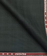 Raymond Blackish Grey Self Checks Poly Viscose Unstitched Fabric (1.25 Mtr) for Trouser, Blazer or Suit