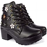 D-SNEAKERZ Synthetic Leather Casual High Heels Boots Sneakers Casual Shoes for Womens and Girls