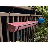 Metal Roots Metal Galvanized Tray Hanging Planter - Pink Blue, Medium, Pack Of -2