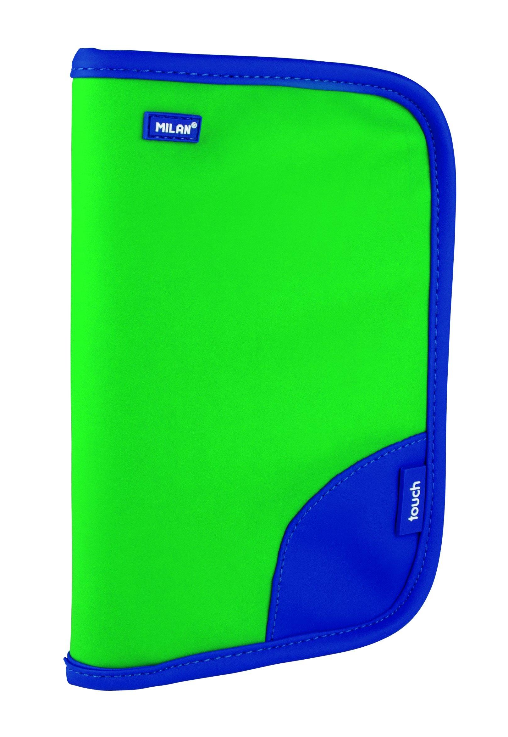Milan Touch Duo Estuches, 21 cm, 1.1 litros, Verde/Azul