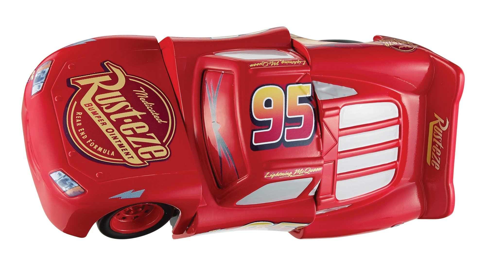 Disney DYW39 Pixar Cars 3 Race and Reck Lightning McQueen Vehicle Disney New Disney Pixar Cars 3 Twisted Crashers vehicle.  His body twists and his eyes change after the crash!  Restore him to his former; pre smash glory by simply twisting the car back into place! 12