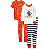 Spotted Zebra Snug-fit Cotton Pajamas Sleepwear Sets Niños, Pack de 4