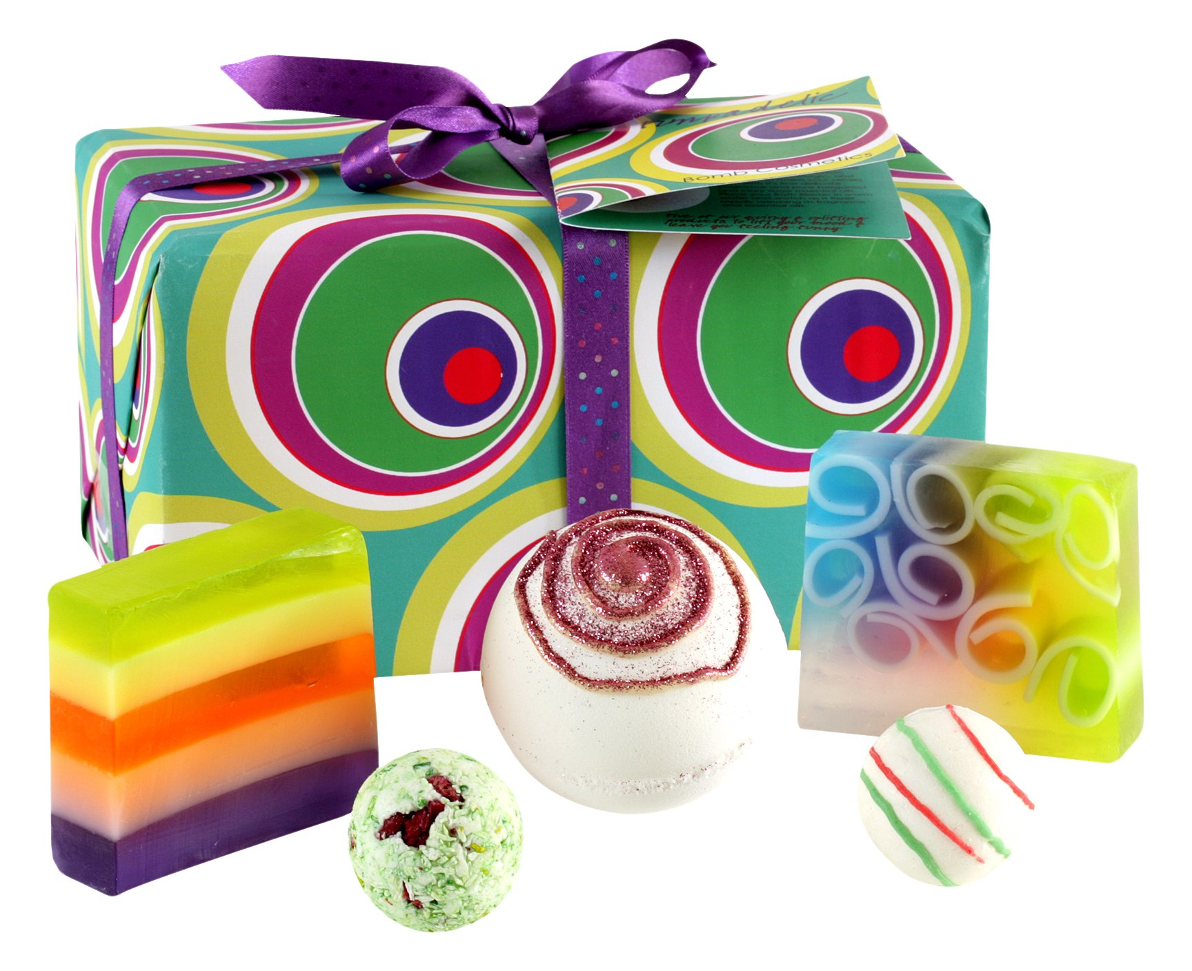 Bomb Cosmetics Funkadelic Handmade Wrapped Bath & Body Gift Pack [Contains 5-Pieces], 420g