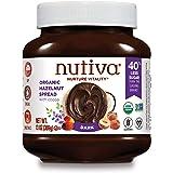 Nutiva Organic Vegan Hazelnut Spread, Dark, 13 Ounce USDA Organic, Non-GMO, Fair Trade & Sustainably Sourced Vegan & Gluten-F