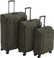 AmazonBasics - Premium-Weichschalen-Trolley mit TSA-Schloss, erweiterbar, 3-teiliges Set à (53 cm, 64 cm, 74 cm), Olivgrün