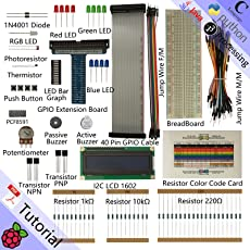 Freenove LCD 1602 Starter Kit for Raspberry Pi | Beginner Learning | Model 3B+ 3B 2B 1B+ 1A+ Zero W | Python, C, Java, Processing | 28 Projects, 182 Pages Detailed Tutorials