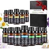 Essentiële oliën-set, Aiemok 12 x 10 ml aromatherapie-oliën Geschenkset voor diffuser en huid- en haarverzorging, 100% puur t