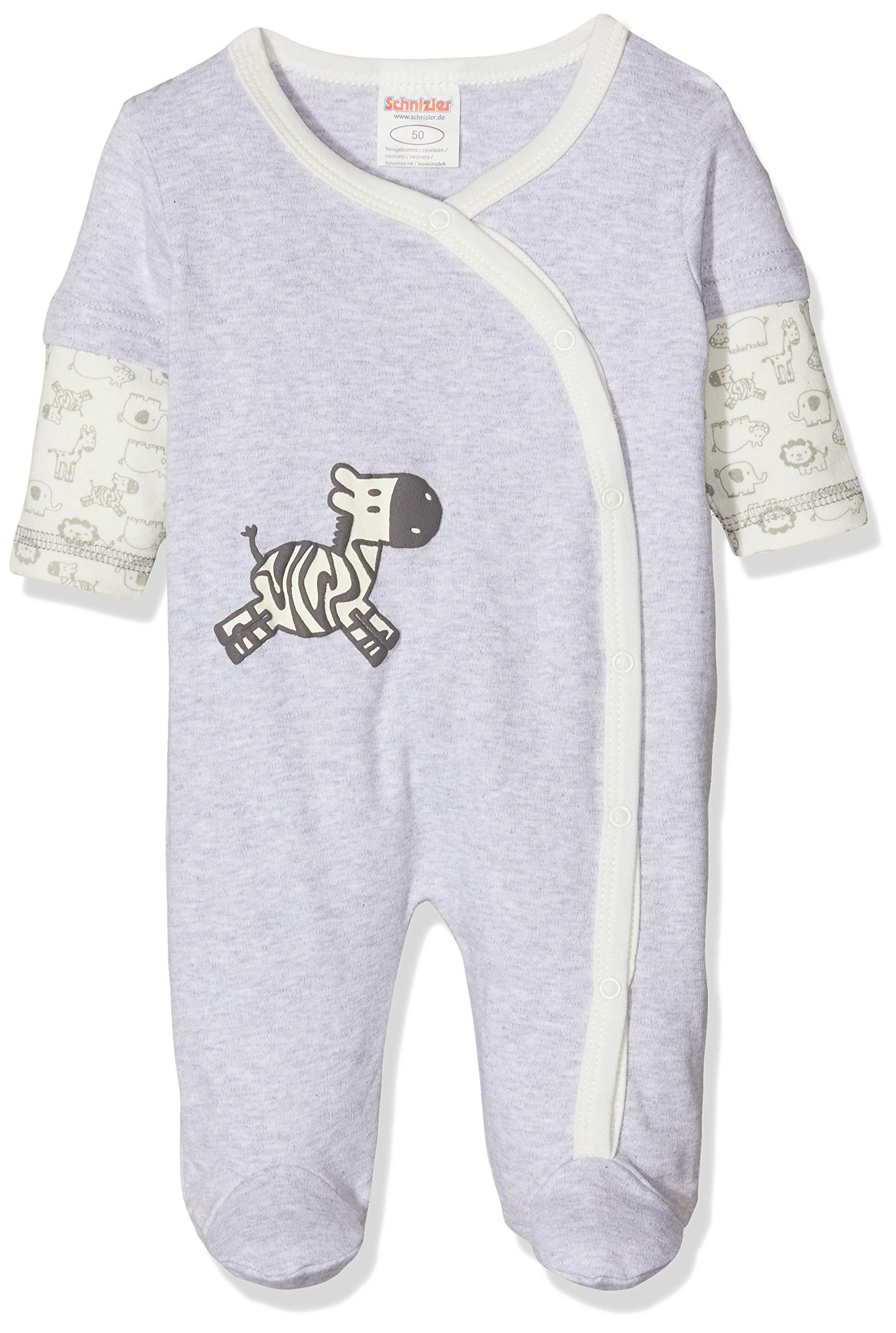 Schnizler Schlafoverall Interlock Zebra Pelele para Dormir Unisex bebé 1
