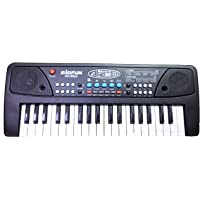TOYMANIA Big Fun Electronic Musical Piano for Kids. | with 37 Keys and Black MIC.