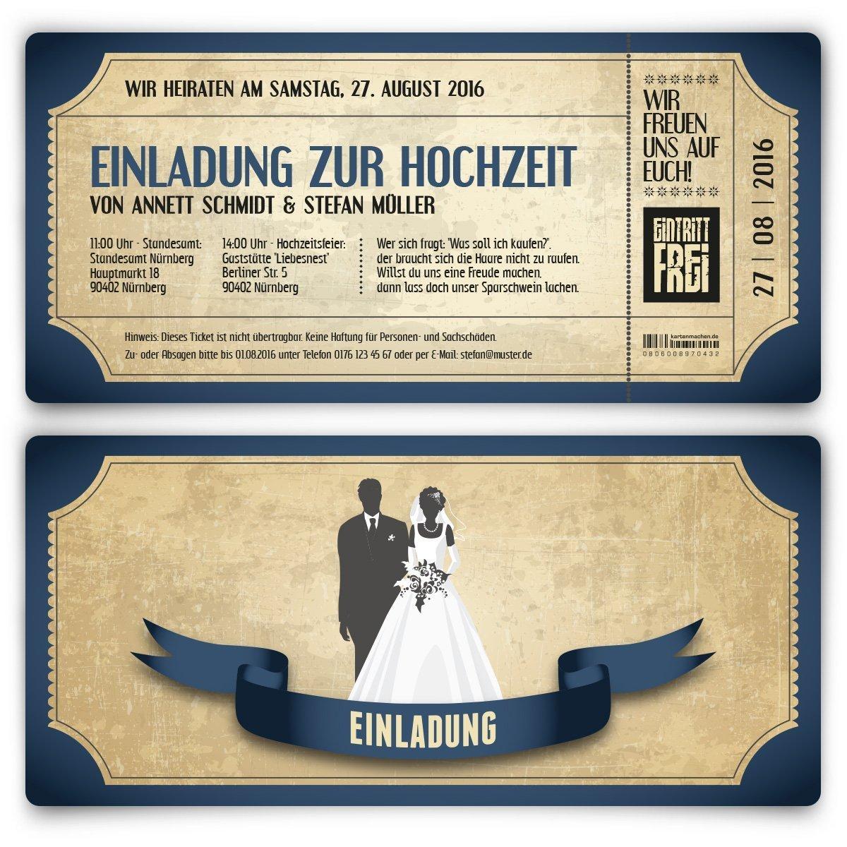 Foto Einladung Hochzeit Vorlagen
