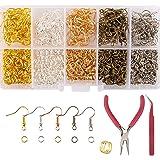 AIEX 1150 Pezzi Ganci per Orecchini Anelli per Saltare Kit Creazione di Gioielli Forniture Con Pinze, Pinzette per Orecchini