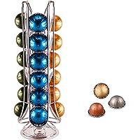 EXZACT Support pour capsules/Porte-Capsules Pour Café, compatible avec les dosettes Nespresso Vertuo - Support rotatif…