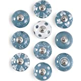 Deurknoppen | Ladeknoppen | Kabinetknoppen Set van 10 grijs | Keramische kastknoppen | Lade trekt | Vintage ladeknoppen | Kas