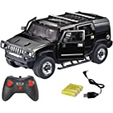 Webby Remote Controlled Hummer with Opening Doors (Black)